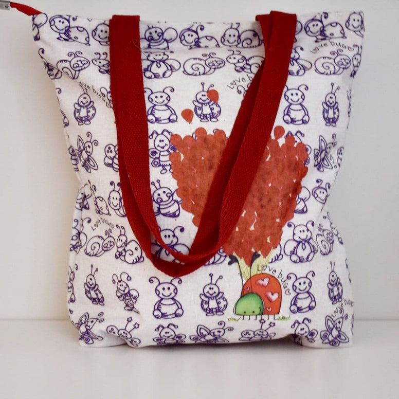 Geanta Tote din Canvas - Love Bug
