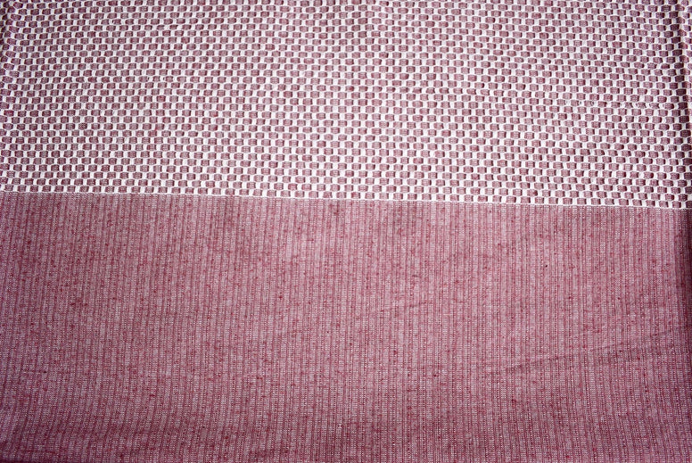 knit Style Double Bed Cover with Pillow Cases- Maroon