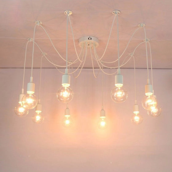 Cheap Price Vintage Retro Ceiling Lights Loft Spider Lustre Diy E27 Adjustable Living Room Lighting For Kitchen Restaurant Fixture Lights And To Have A Long Life. Ceiling Lights