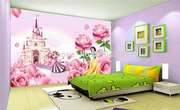 Girl S Room 3d Wallpaper Romantic Princess Castle Photo Mural Living