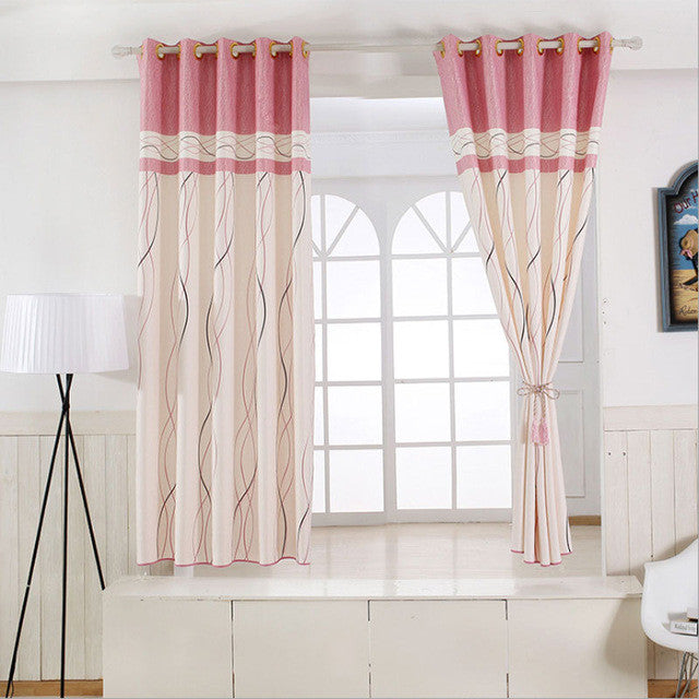 1 panel Short curtains Window decoration Modern Kitchen Drapes Striped  pattern Children bedroom curtains (Color of 6) B16202