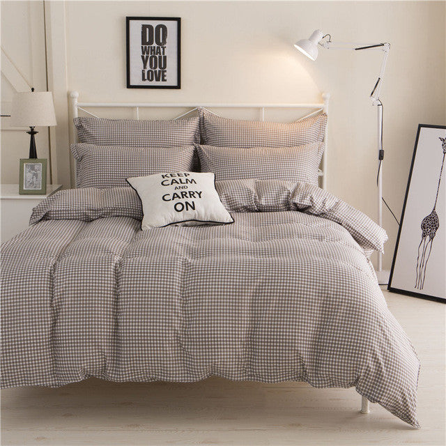 Cara carle bedding set 4pcs bedclothes duvet cover bed for Housse de couette king size