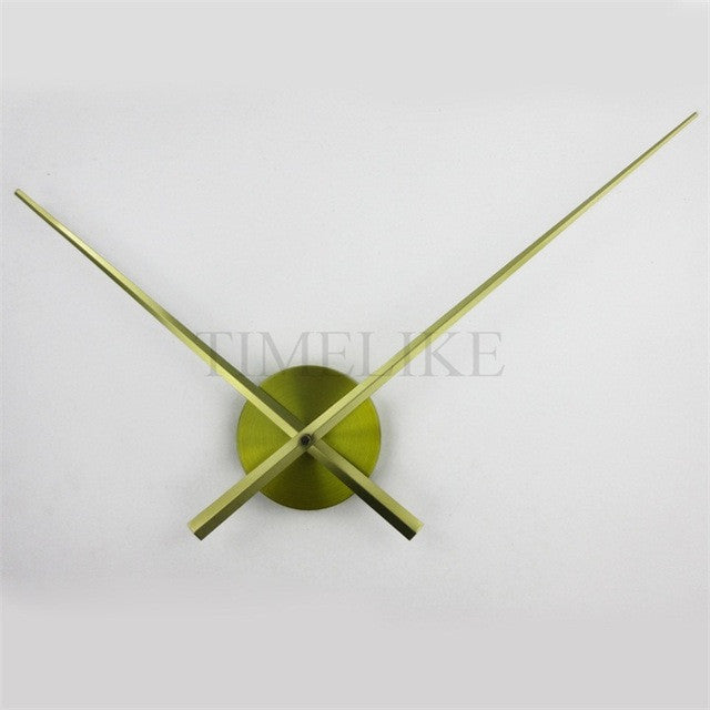Luxury Large DIY 3D Wall Clock Living Room Home Decoration Mirror