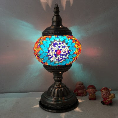 Wondrous Newest E14 Hand Inlaid Glass Mosaic Bedroom Living Room Decorative Table Lamps Of Mediterranean Style Turkish Lamps Interior Design Ideas Clesiryabchikinfo