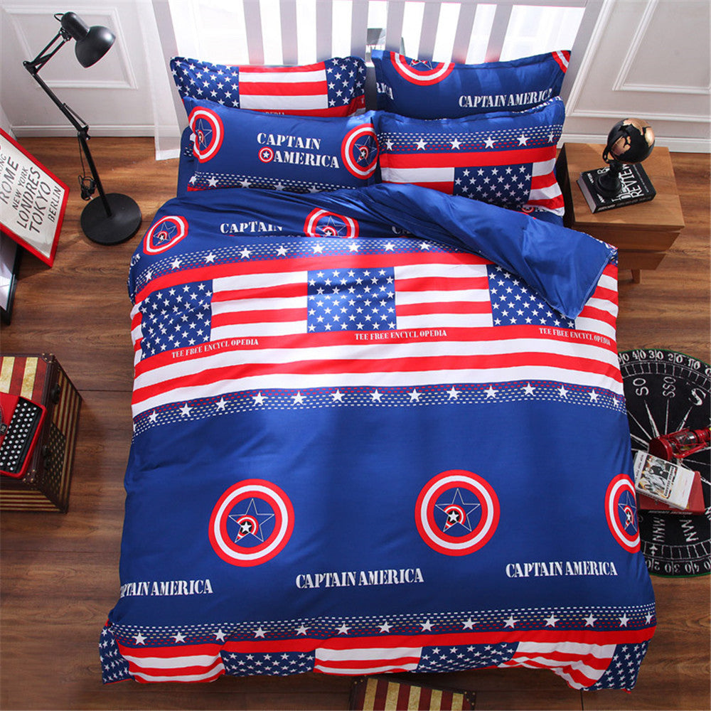884dda24bc7 American flag comforter bedding bed sets kids 4 5 pcs blue and red quilt  duvet cover queen king twin brief bed linens bedsheets