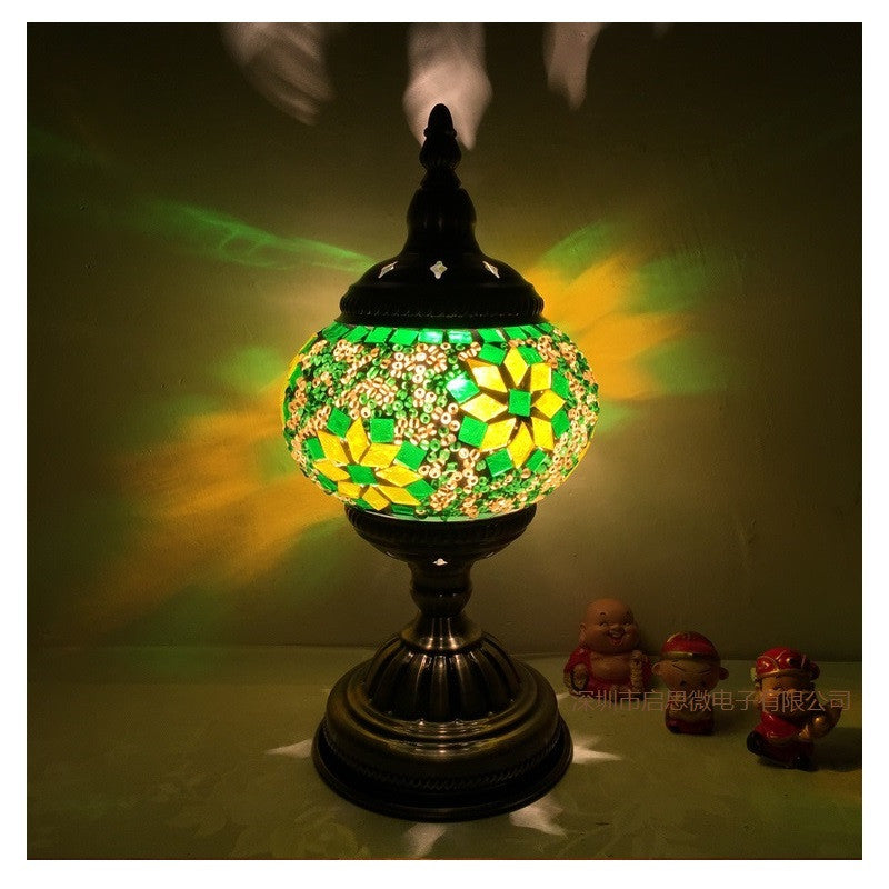 Enjoyable Newest E14 Hand Inlaid Glass Mosaic Bedroom Living Room Decorative Table Lamps Of Mediterranean Style Turkish Lamps Interior Design Ideas Clesiryabchikinfo