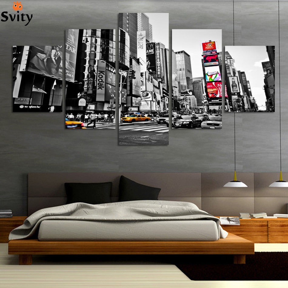 ffc6cd29800 2016 Hot Sales Without Frame 5 Panels Picture New York City HD Canvas Print  Painting Artwork Wall Art Canvas painting Wholesale