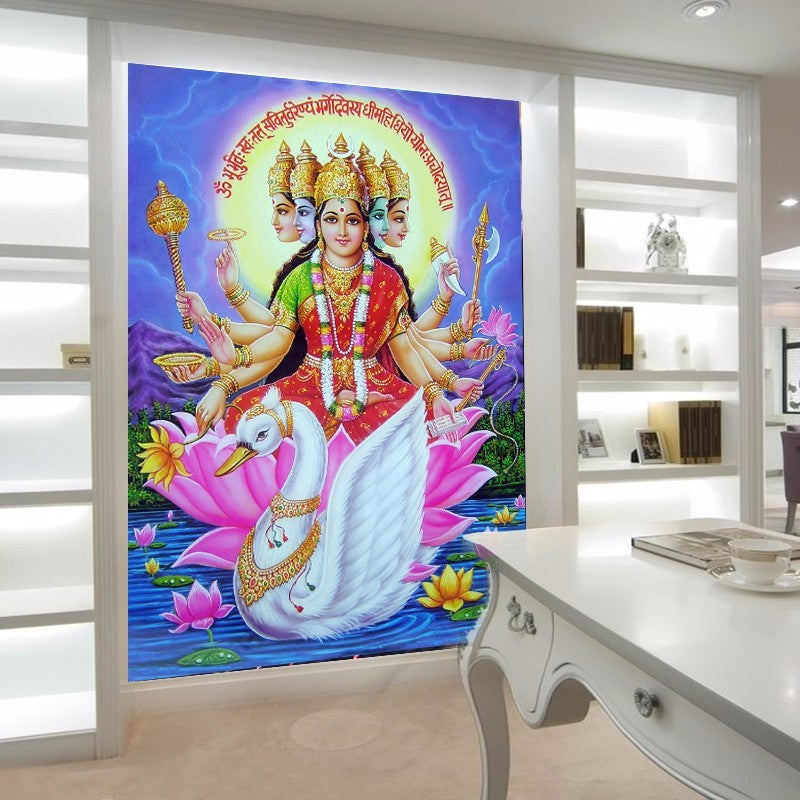 Beibehang wallpaper for walls 3d Southeast Asia Thailand and India yoga  Hindu god statues Buddha mural wall paper photo