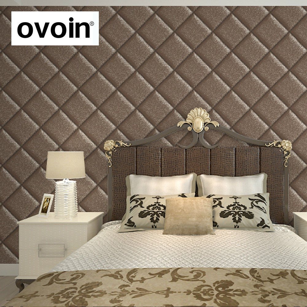 Imitation Leather Wallpaper 3d Vintage Wall Paper Waterproof Thick Vinyl Retro Wallpaper For Sofa Background Wall Black Brown