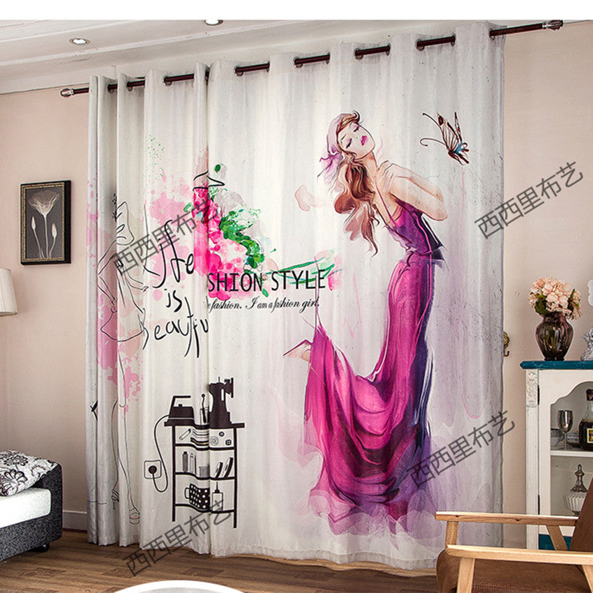 New Blackout curtains fabric 3d curtains for bedroom ready made blinds  Christmas window curtains kids room curtains living room
