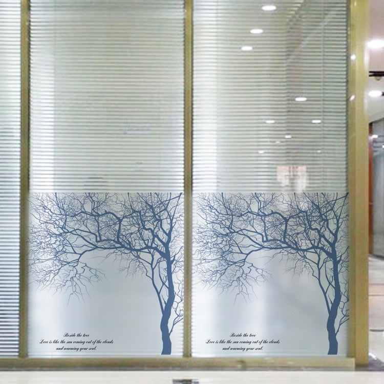 High Quality Tree Pattern Home Decor 60x58cm Removable Stained Glass Window Film Stickers Raamfolie Privacy Adhesive