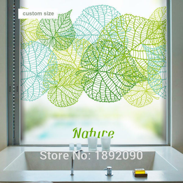 Free Custom Made Size Decorative Stained Window Film