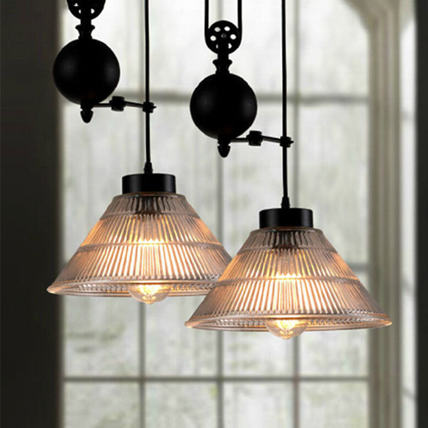 cd6b504e9e New Nordic Loft Style Vintage Pulley Pendant Light Industrial Lighting  Edison Pendant Lamp for Home Deco Pulley Light Fixtures