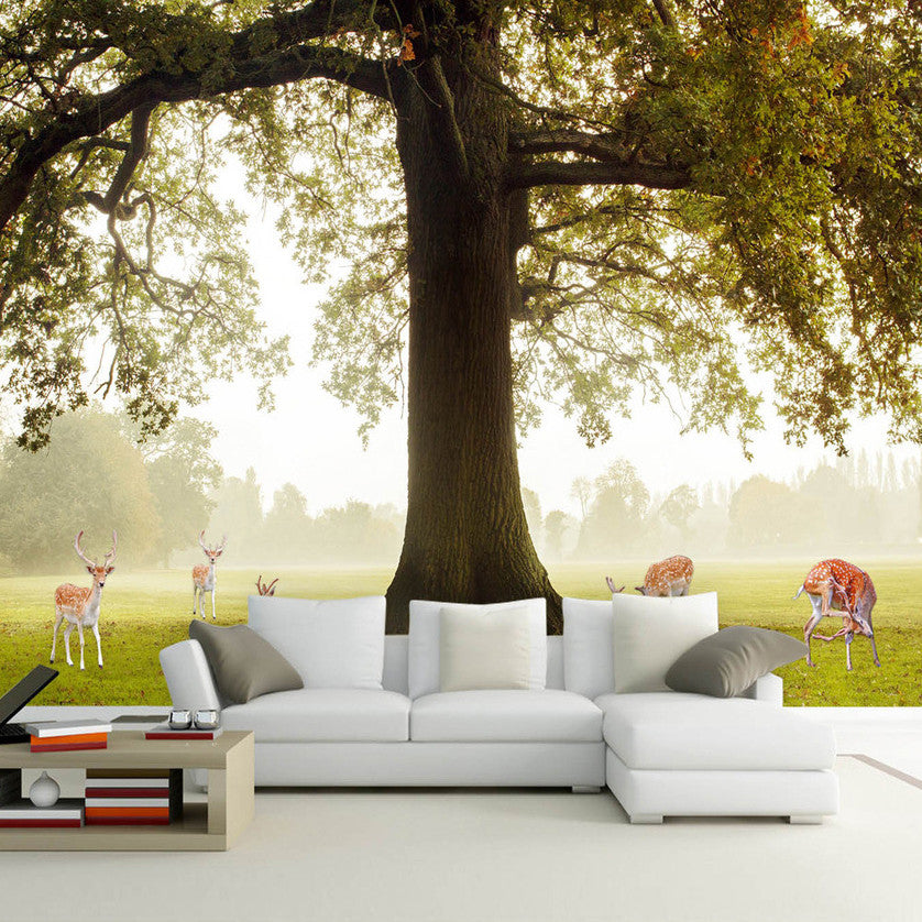 Painting Supplies & Wall Treatments Alert Custom Mural Wallpaper 3d Big Tree Forest Nature Landscape Large Murals Living Room Sofa Bedroom Modern Wall Papers Home Decor