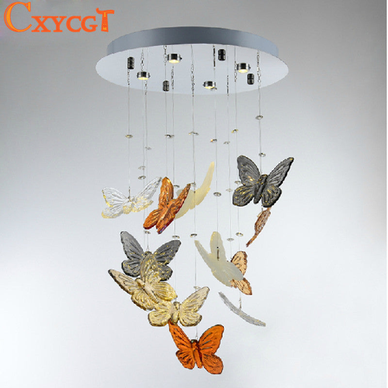 Creative Butterfly Modern Lustre Crystal Chandeliers Lighting Fixtures For Dining Room Art Deco Luxury Lamp