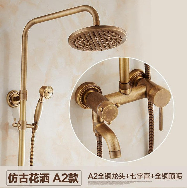 Antique European luxury shower suite rain shower hot and cold ...