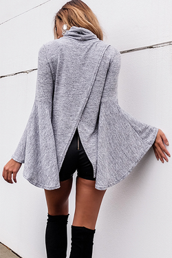 Lovely Batwing Turtle Neck Poncho Cardigan Sweater