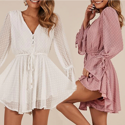Vanessa Button Up Romper