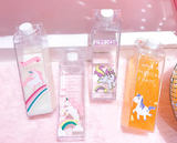 Adorable Unicorn Transparent Water Bottle