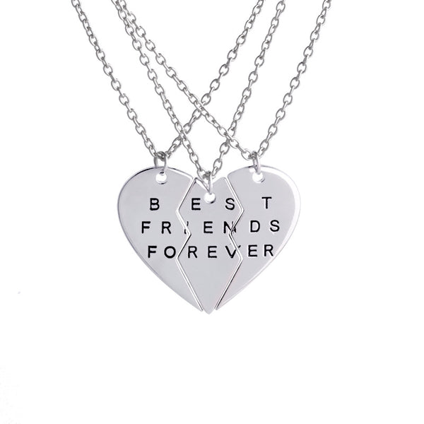 BFF Friendship Necklace - 3 PCS