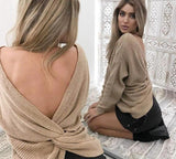 Sexy Twist Front Or Back Reversible Sweater