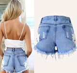 Floral Lace Denim Shorts