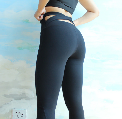Kami Criss Cross Back Slimming Mesh Leggings
