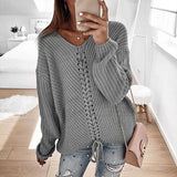 Lovely Braided Baggy Knit Sweater