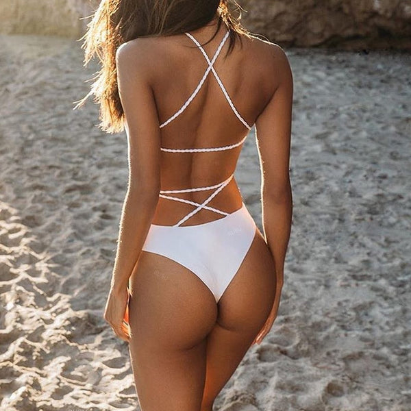 Sexy Back One Piece Swimsuit
