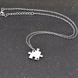 BFF Best Friends Puzzle Necklace - 4PCS