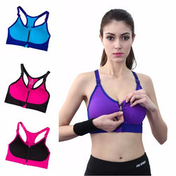 Simplyy Fit® Hot Zip up Sports Bra