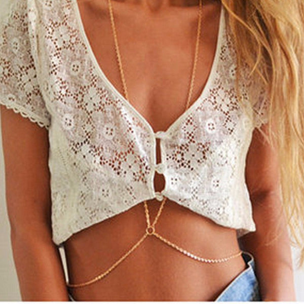 Dainty Tiny Circle Body Chain