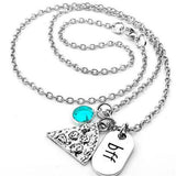 BFF Pizza Party Friendship Necklace