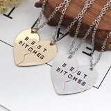 Best B*tches BFF Necklace Set