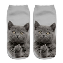 Kitty Cat Middle Finger Socks