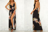 Mystic Floral V-Neck Maxi Dress