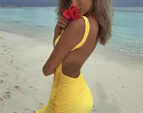 Sexy Backless Slimming Summer Dress
