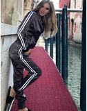 Satin Striped Tracksuit 2 Pcs Set
