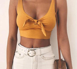 Olivia Bow Tie Cropped Top