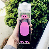 Adorable Animal Transparent Water Bottles