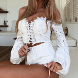 Sexy Criss Cross Off Shoulder Crop Top