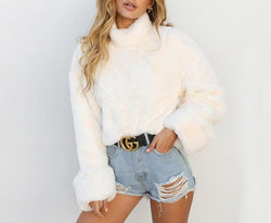 Fluffy Soft Turtle Neck Sweater