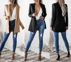 Fitted Casual Blazer Jacket