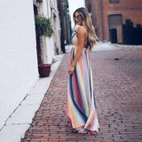 Vintage Rainbow Striped Sundress