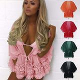 Shayna Sheer Ruffle Robe