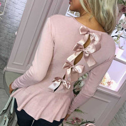 Serena Lovely Ribbon Sweater Blouse