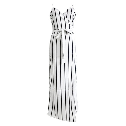 Yara Striped Side Slit Maxi Dress