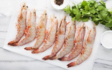 Wild Gulf Shrimp, Head-On 10-12 size (Frozen)