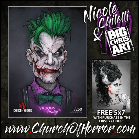 The Hipster Joker - Nicole Chilelli Meets BigChrisArt