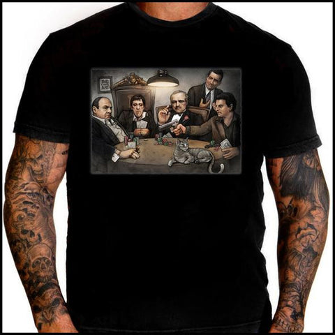 Gangsters Playing Poker T-Shirt